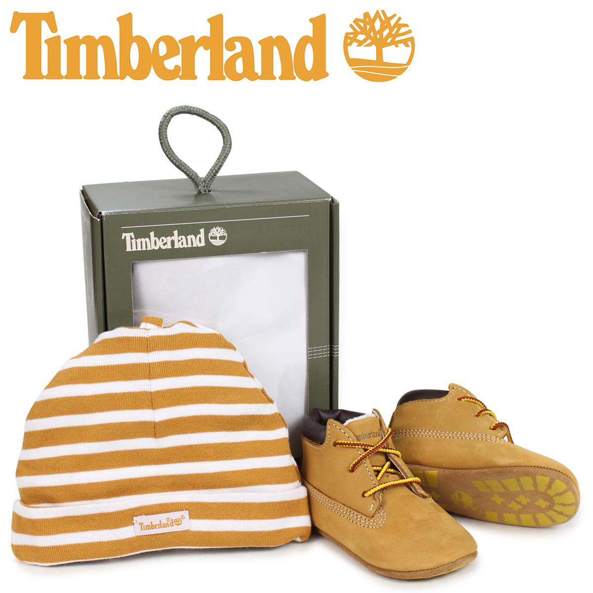 ティンバーランド Timberland ブーツ シューズ キャップ 帽子 ニット帽 セット キッズ ベビー INFANT CRIB BOOTIES CAP SET ギフト ウィート ベージュ 9589R