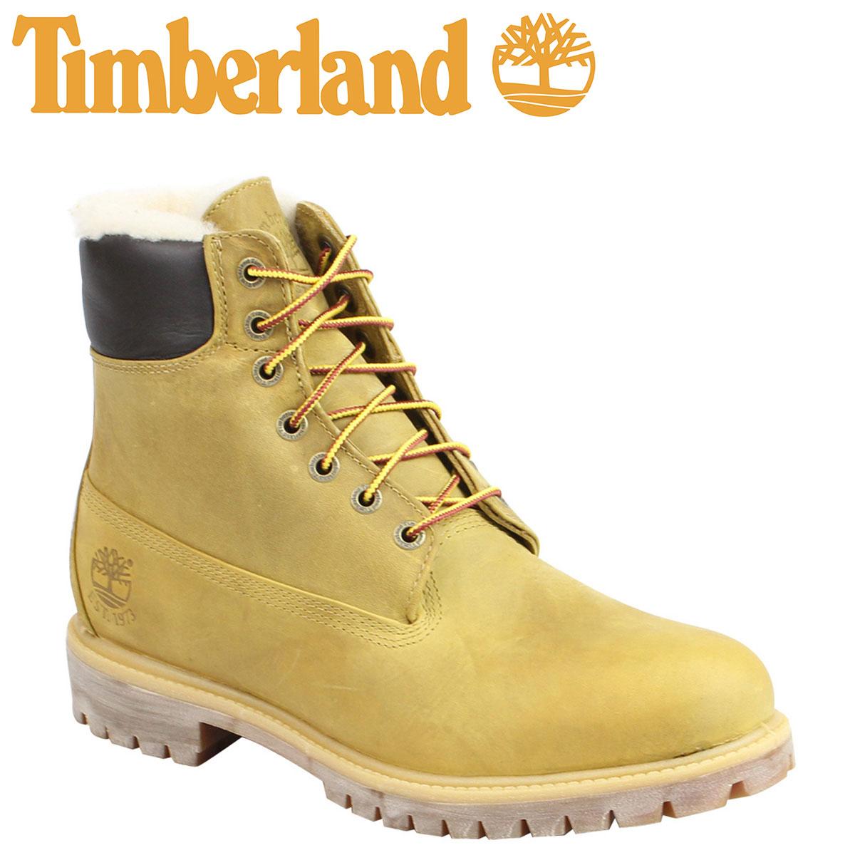 ティンバーランド ブーツ メンズ 6インチ Timberland HERITAGE 6INCH SHEARLING LINED ヘリテージ シャーリング ライン A1157 Wワイズ ライトブラウン