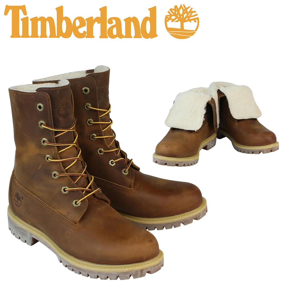 ティンバーランド ブーツ メンズ Timberland HERITAGE FOLD-DOWN WARM FLEECE LINED BOOT ヘリテージ フォルドダウン フリース ライン A118Y ブラウン