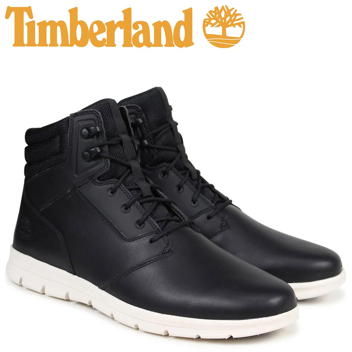 ティンバーランド スニーカー ブーツ メンズ Timberland GRAYDON WATER RESISTANT A1HWC Wワイズ ブラック 【決算セール 返品不可】