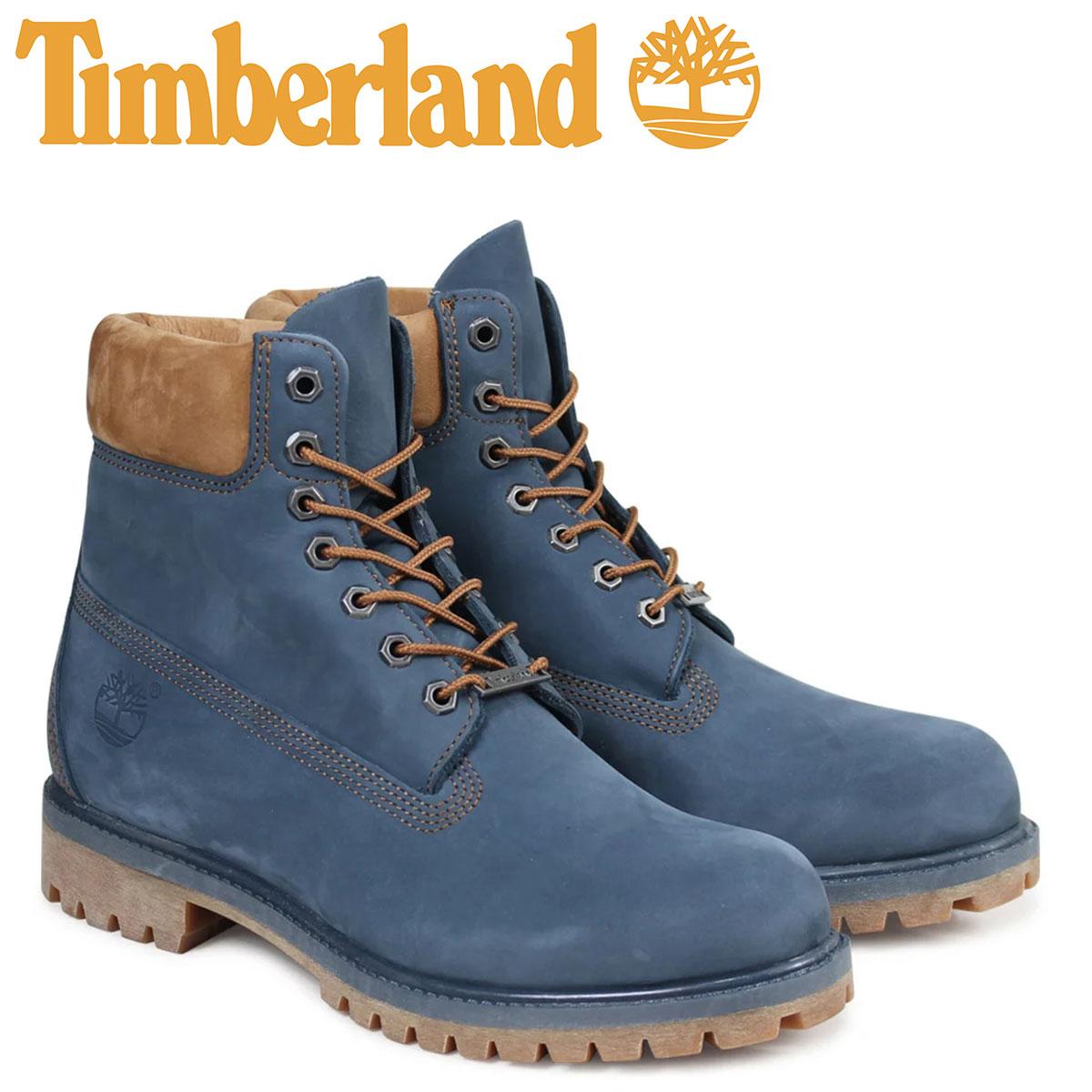 ティンバーランド Timberland ブーツ メンズ 6インチ 6INCH PREMIUM BOOT A1LU4 Wワイズ プレミアム 防水 ネイビー