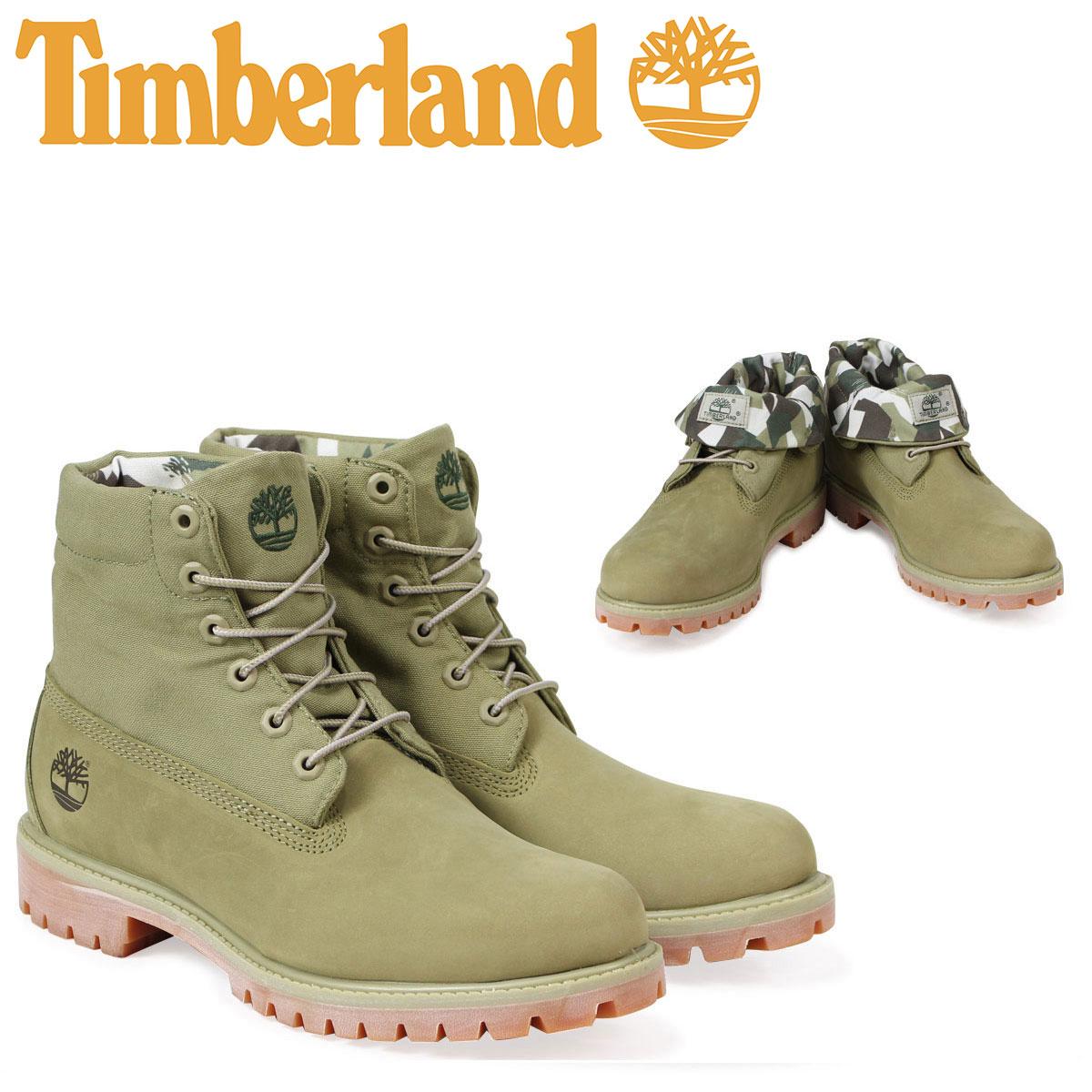 ティンバーランド ロールトップ ブーツ Timberland メンズ ROLL TOP BOOT A1PBI Wワイズ グリーン