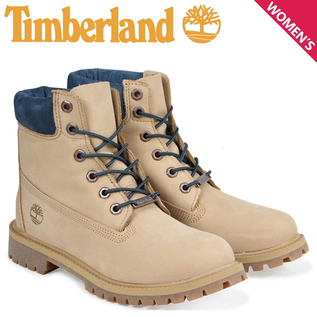 ティンバーランド レディース ブーツ 6インチ Timberland キッズ JUNIOR 6INCH WATERPROOF BOOT A1PLO Wワイズ 防水 ベージュ