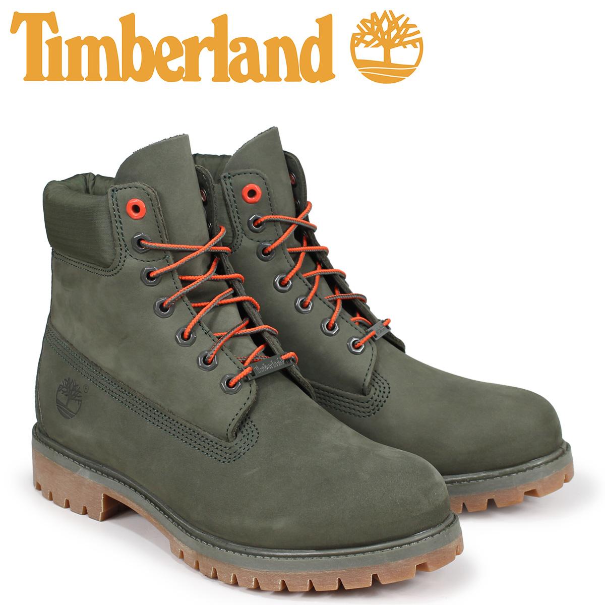 ティンバーランド Timberland ブーツ メンズ 6インチ 6-INCH PREMIUM BOOTS A1QY1 Wワイズ グリーン