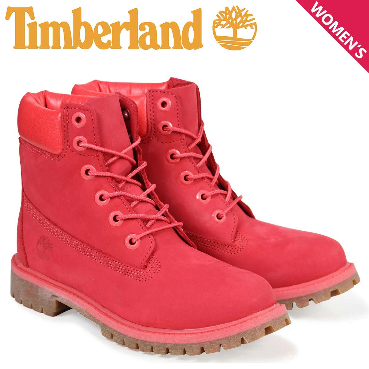 ティンバーランド Timberland レディース ブーツ 6インチ キッズ JUNIOR 6INCH WATERPROOF BOOT A1RSR Mワイズ 防水 レッド