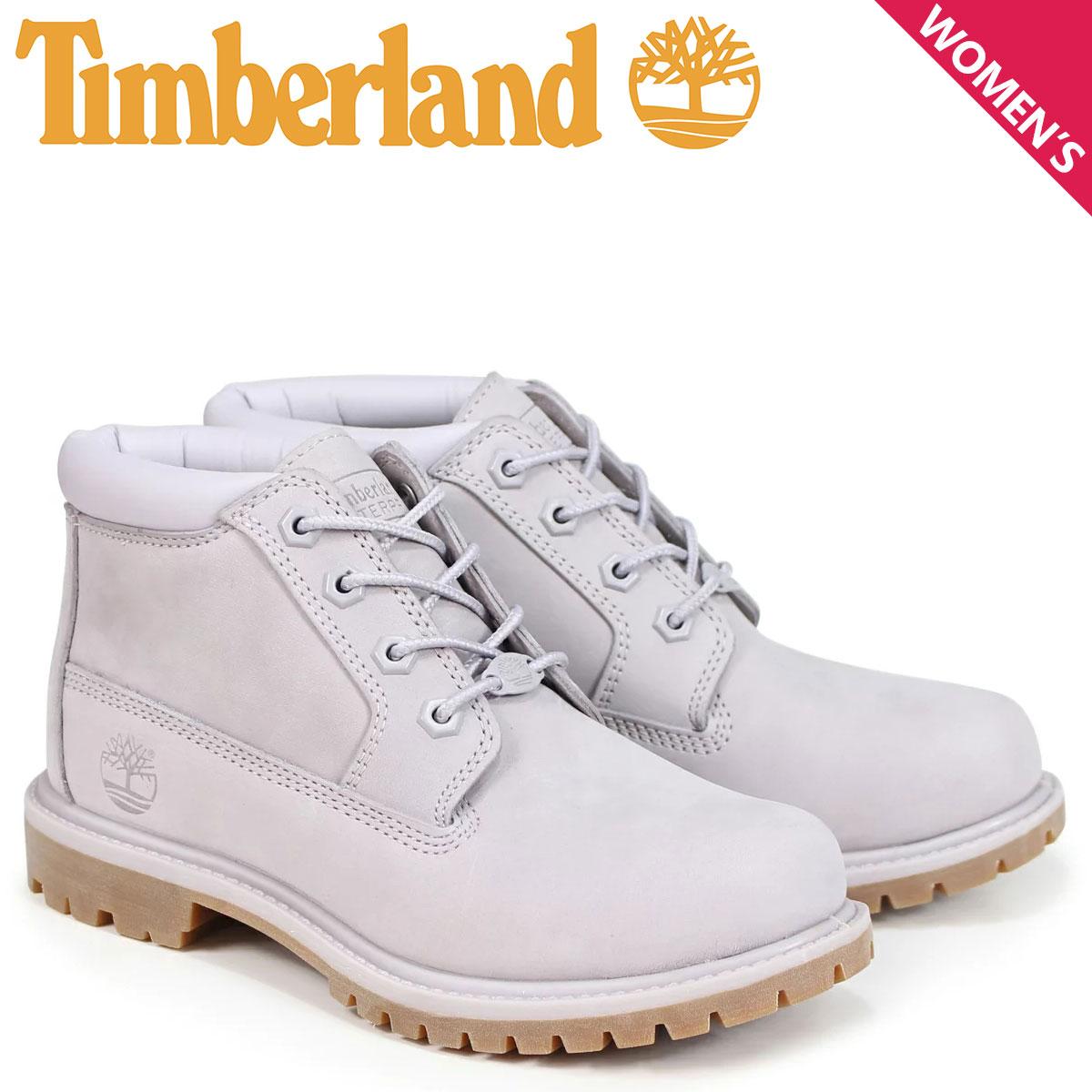 ティンバーランド チャッカ レディース Timberland ブーツ NELLIE CHUKKA DOUBLE A1S7R Wワイズ ライトグレー