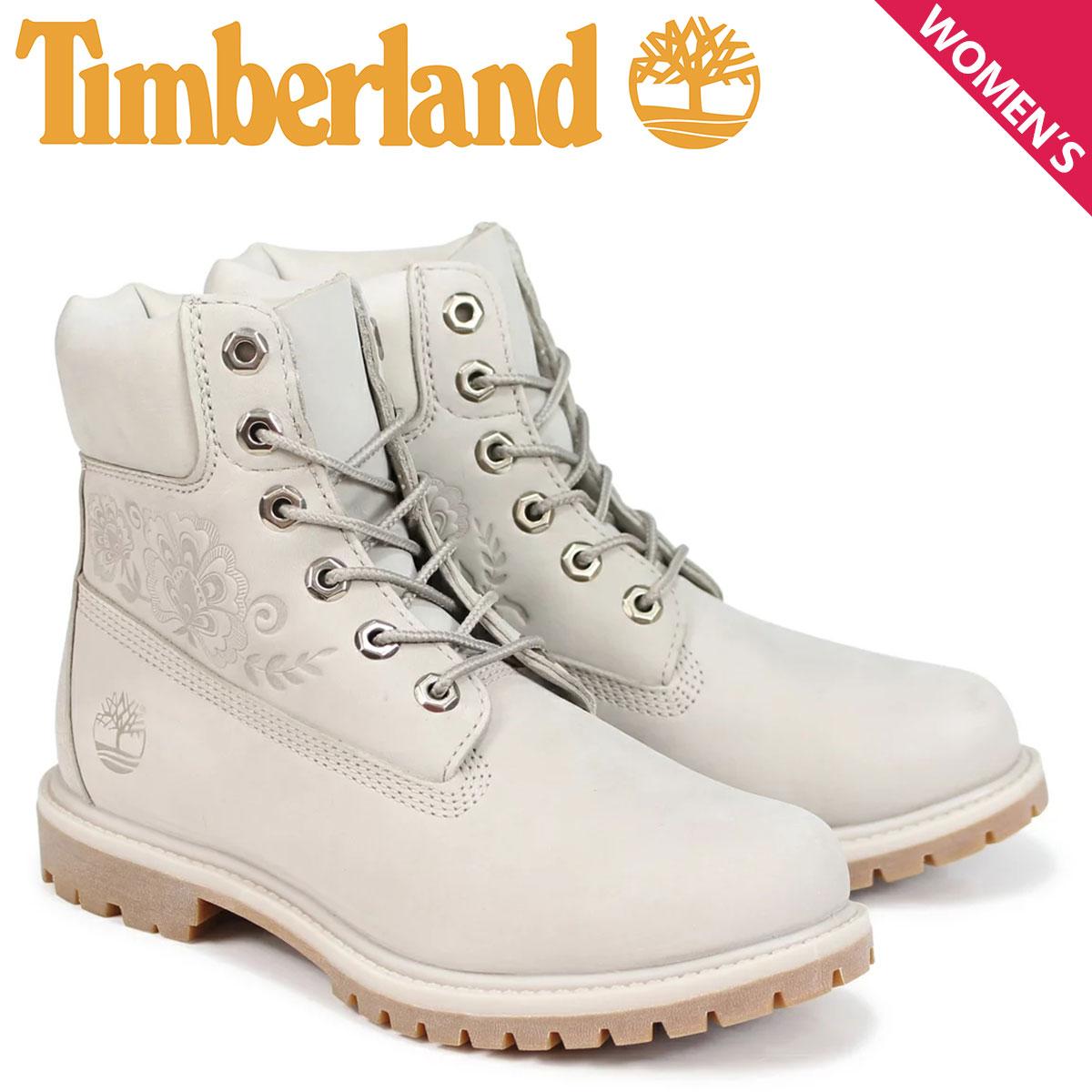 ティンバーランド Timberland ブーツ レディース 6インチ 6-INCH PREMIUM BOOTS A1SXO Wワイズ グレー