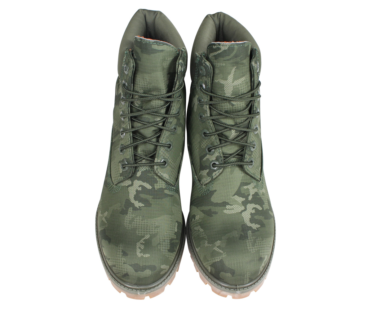 616e9608370 6 inches of Timberland boots men Timberland 6-INCH PREMIUM FABRIC BOOTS  A1U9I W Wise dark green