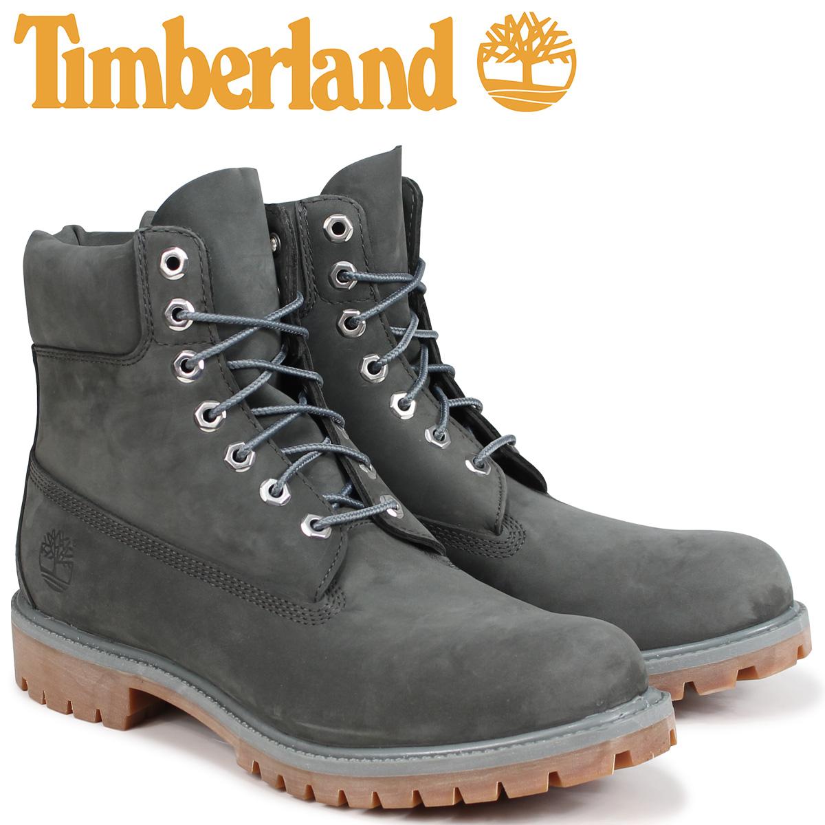 【最大2000円OFFクーポン】 ティンバーランド ブーツ メンズ 6インチ Timberland 6-INCH PREMIUM BOOTS A1UFH Wワイズ ダークグレー
