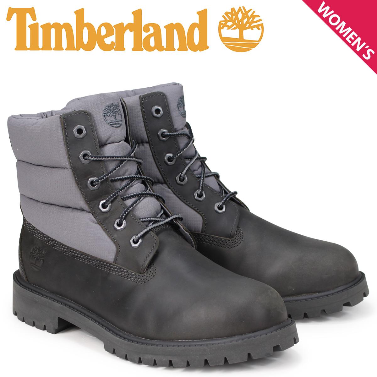 ティンバーランド Timberland ブーツ レディース 6インチ キッズ JUNIOR 6-INCH PREMIUM QUILT BOOTS A1UYX Mワイズ ダークグレー