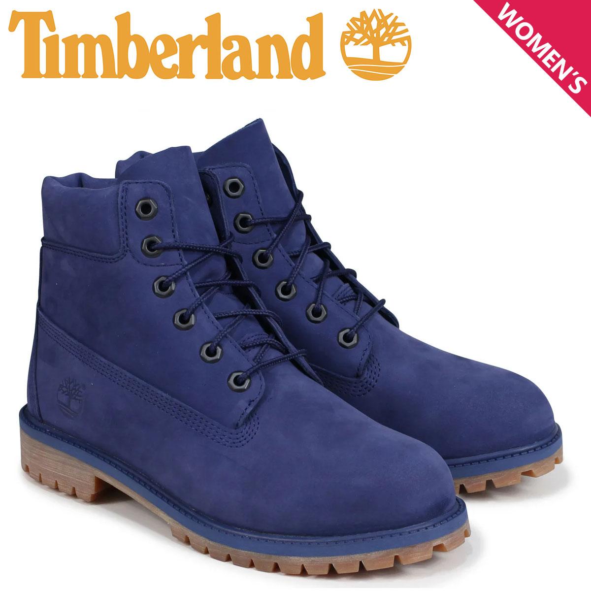 ティンバーランド Timberland レディース ブーツ 6インチ キッズ JUNIOR 6INCHI PREMIUM WATERPROOF BOOT A1VCV Wワイズ 防水 ブルー