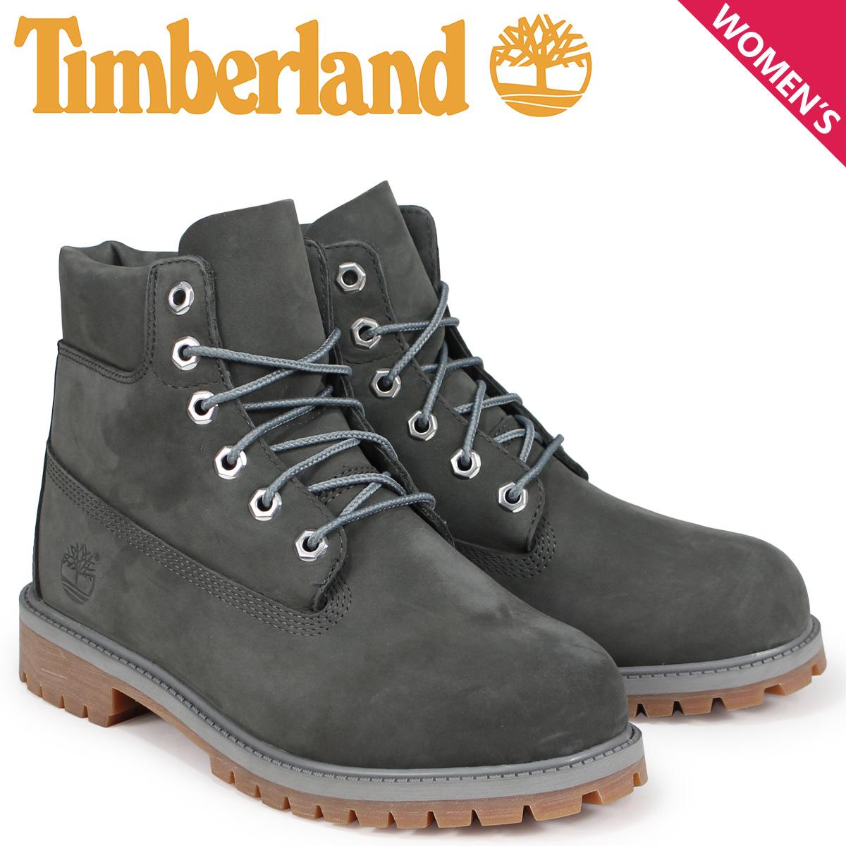 ティンバーランド Timberland ブーツ レディース 6インチ キッズ JUNIOR 6-INCH PREMIUM WATERPROOF BOOTS A1VD7 Wワイズ ダークグレー
