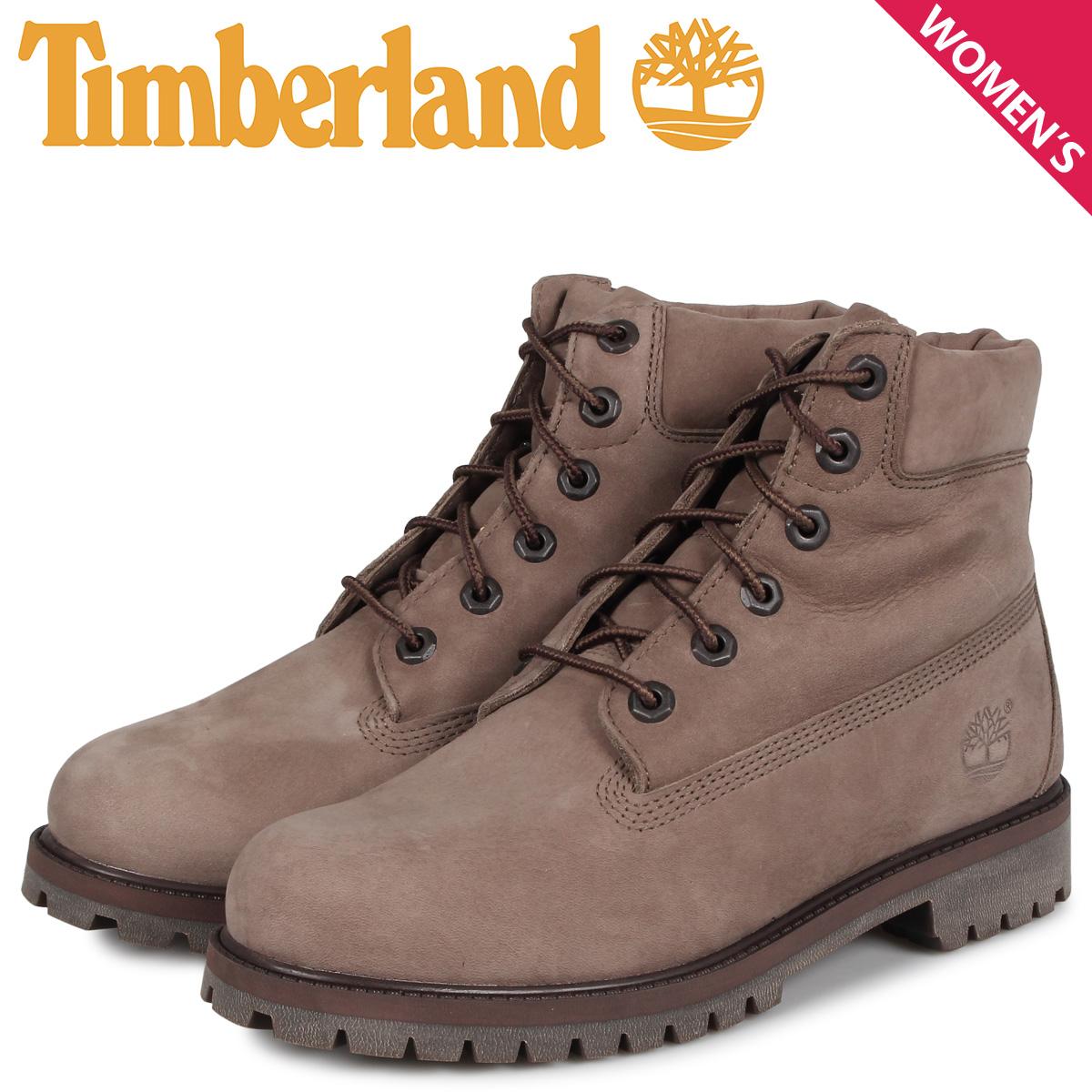 ティンバーランド Timberland ブーツ レディース 6インチ プレミアム JUNIOR 6INCH PREMIUM WATERPROOF BOOT オリーブ A294H