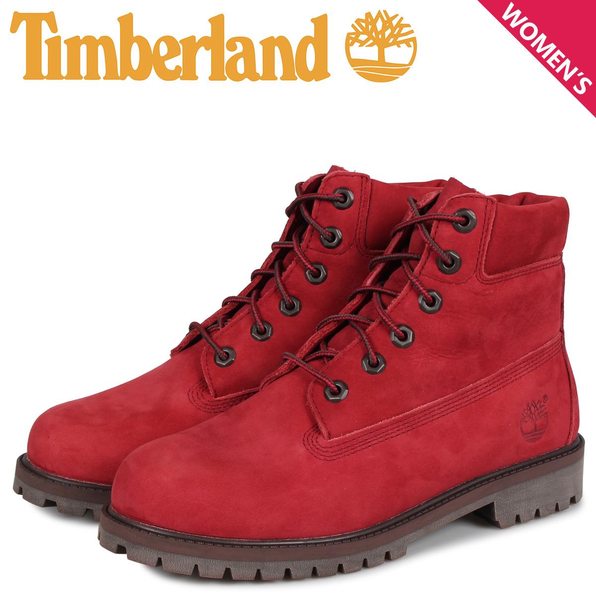 ティンバーランド Timberland ブーツ レディース 6インチ プレミアム JUNIOR 6INCH PREMIUM WATERPROOF ダーク レッド A2954