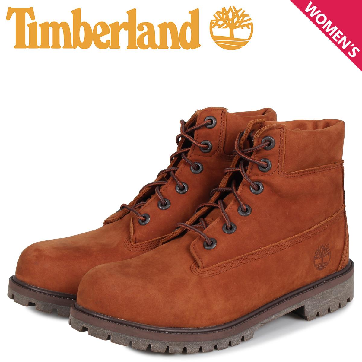 ティンバーランド Timberland ブーツ レディース 6インチ プレミアム JUNIOR 6INCH PREMIUM WATERPROOF BOOT ブラウン A2BKM