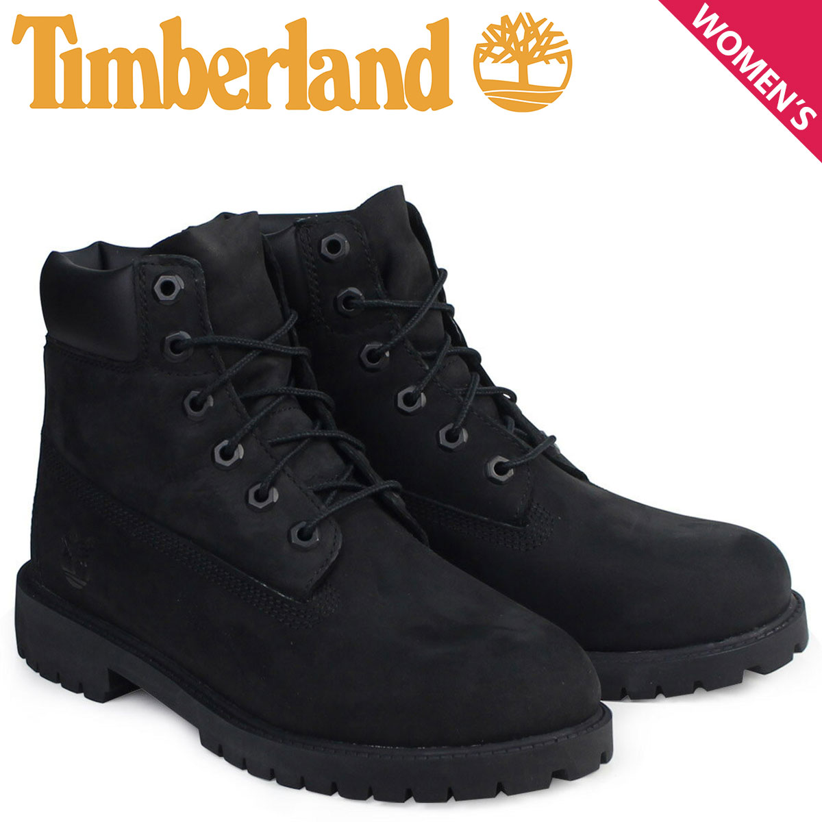 ティンバーランド レディース ブーツ 6インチ Timberland 6INCH WATERPROOF BOOTS プレミアム ウォータープルーフ 12907 ブラック