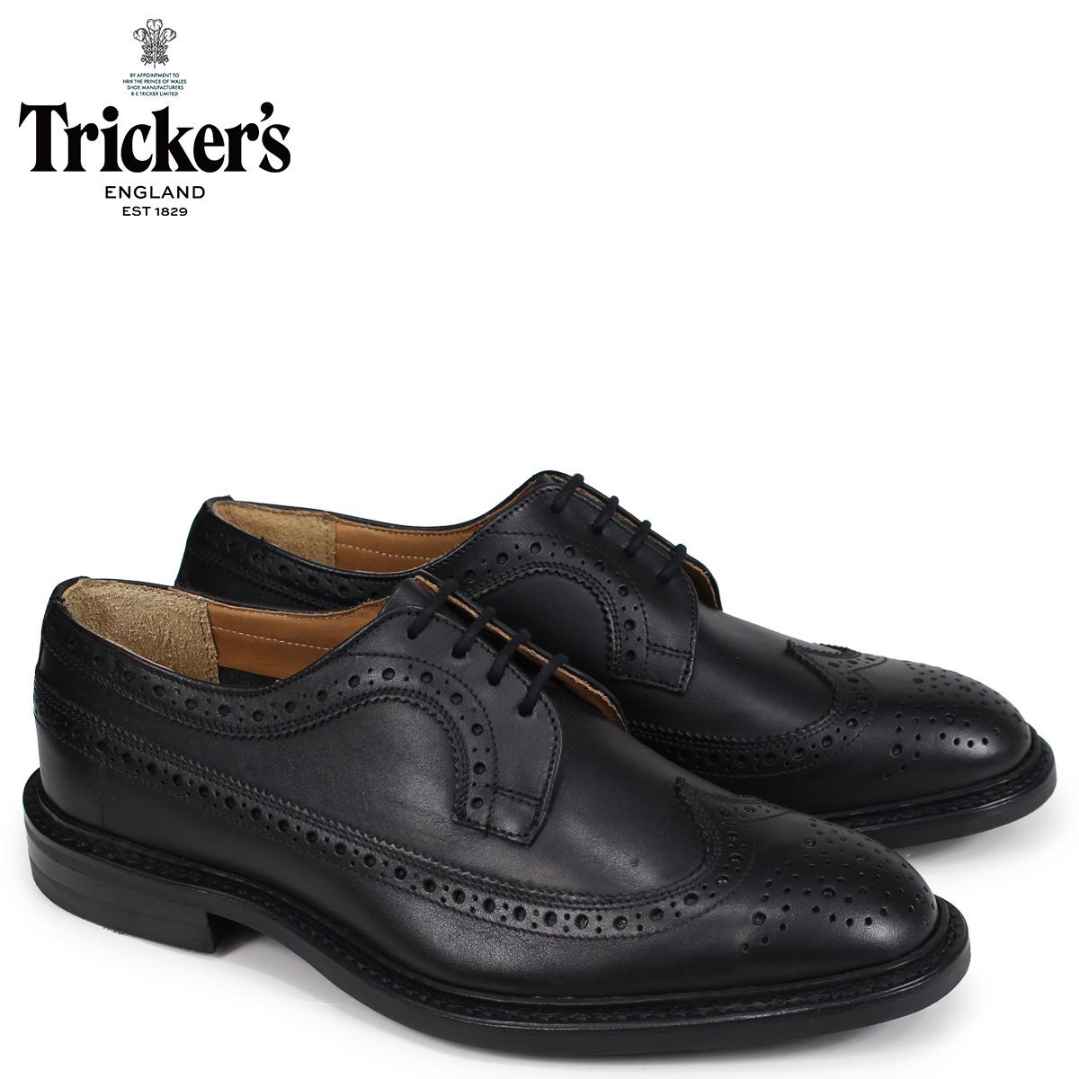 トリッカーズ Trickers ウイングチップ シューズ RICHARD 5ワイズ メンズ ブラック 5164