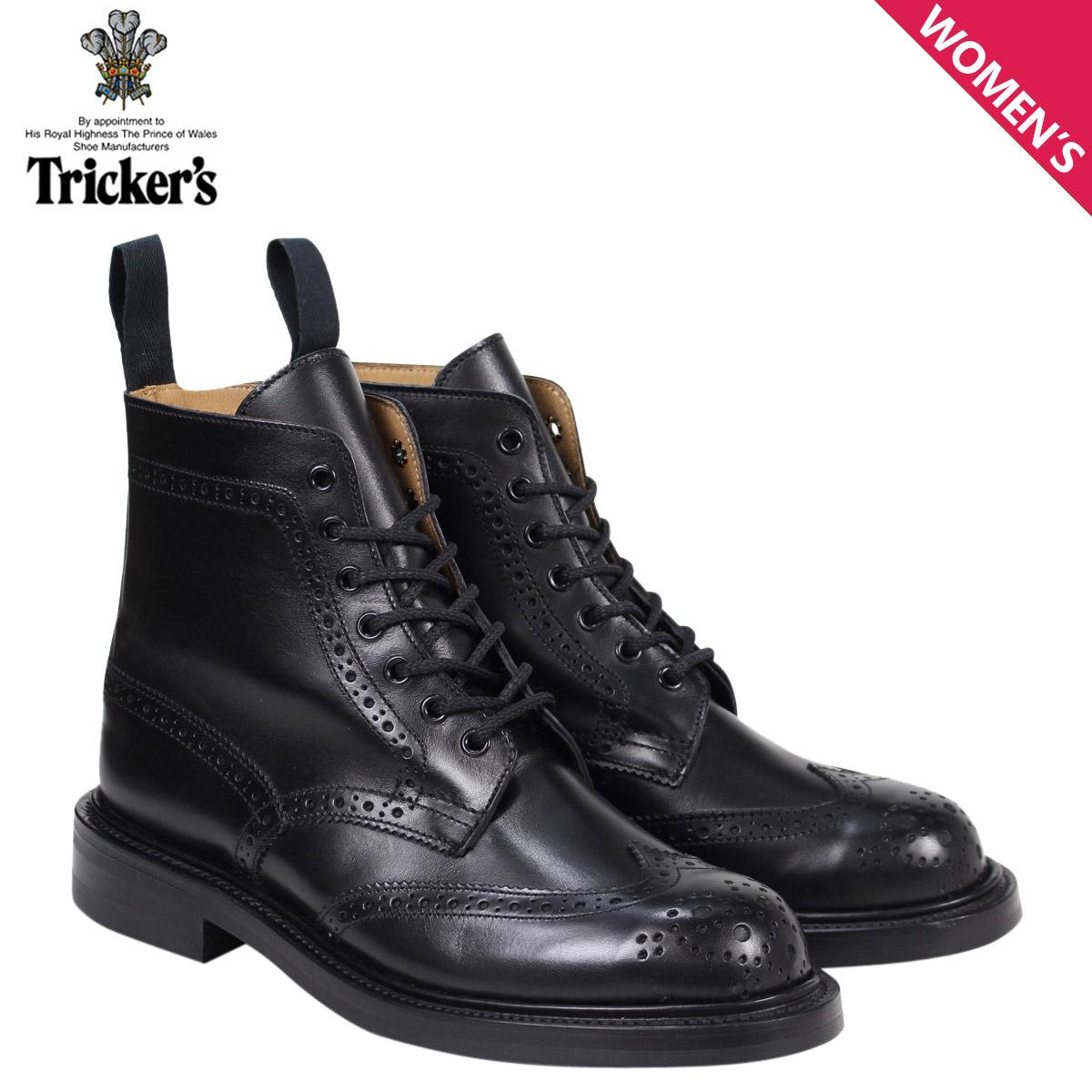 トリッカーズ Tricker's レディース カントリーブーツ MALTON L5676 4ワイズ ブラック