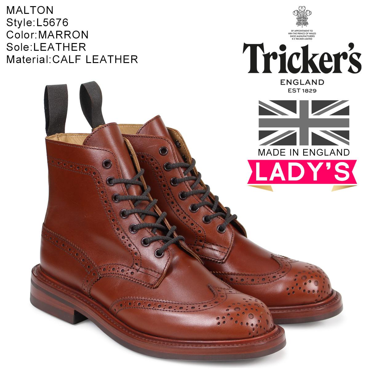 トリッカーズ Trickers レディース カントリーブーツ STEPHY L5676 4ワイズ ダークブラウン