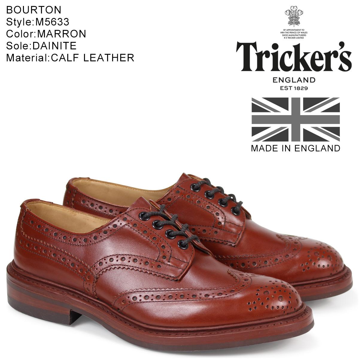 SneaK Online Shop | Rakuten Global Market: Trickers Tricker's Burton wing tip shoes M5633 BOURTON ダイナイトソール calf leather mens Made In ENGLAND Trickers Boughton