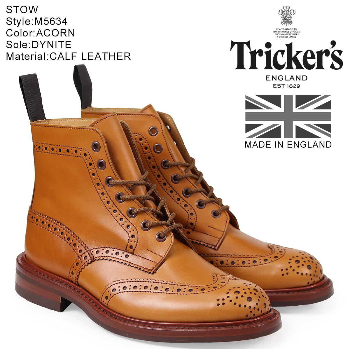 トリッカーズ Trickers カントリーブーツ STOW M5634 5ワイズ メンズ ライトブラウン
