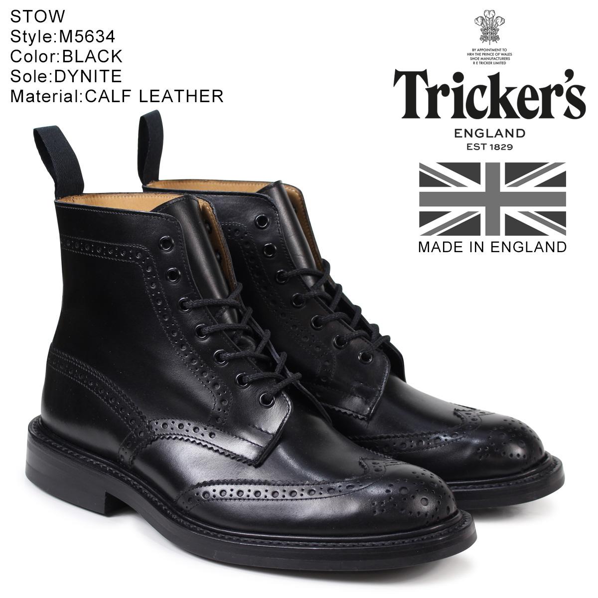 トリッカーズ Trickers カントリーブーツ STOW M5634 5ワイズ メンズ ブラック