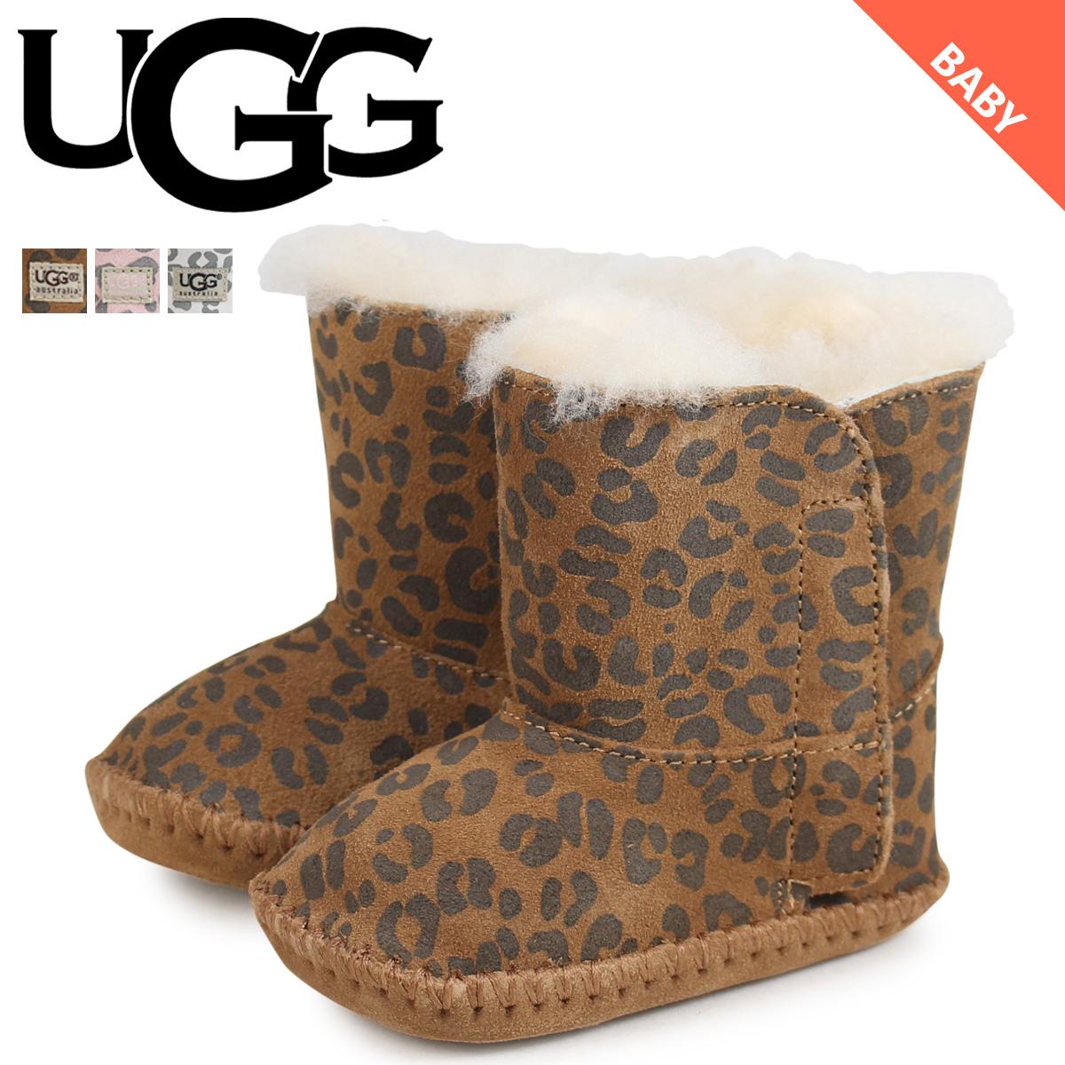 UGG アグ ムートンブーツ ベビー キッズ カシー INFANTS CASSIE LEOPARD 1001781 シープスキン レオパード ベビー靴