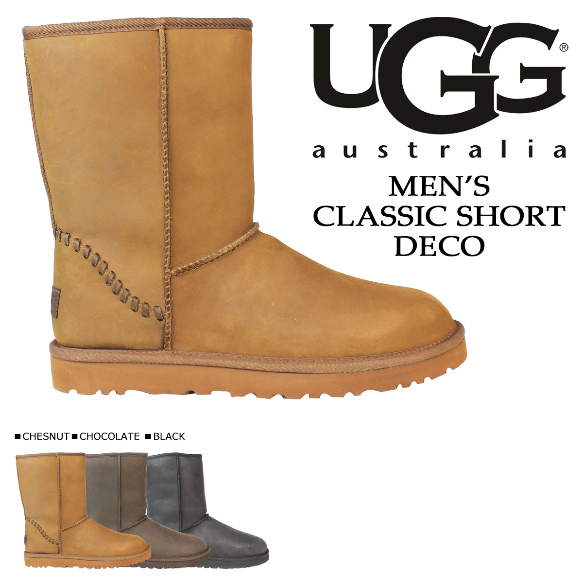 Sheepskin Boots Classic short, UGG UGG men's MENS CLASSIC SHORT DECO Deco 1007307 3 colors [12 / 2 new in stock]