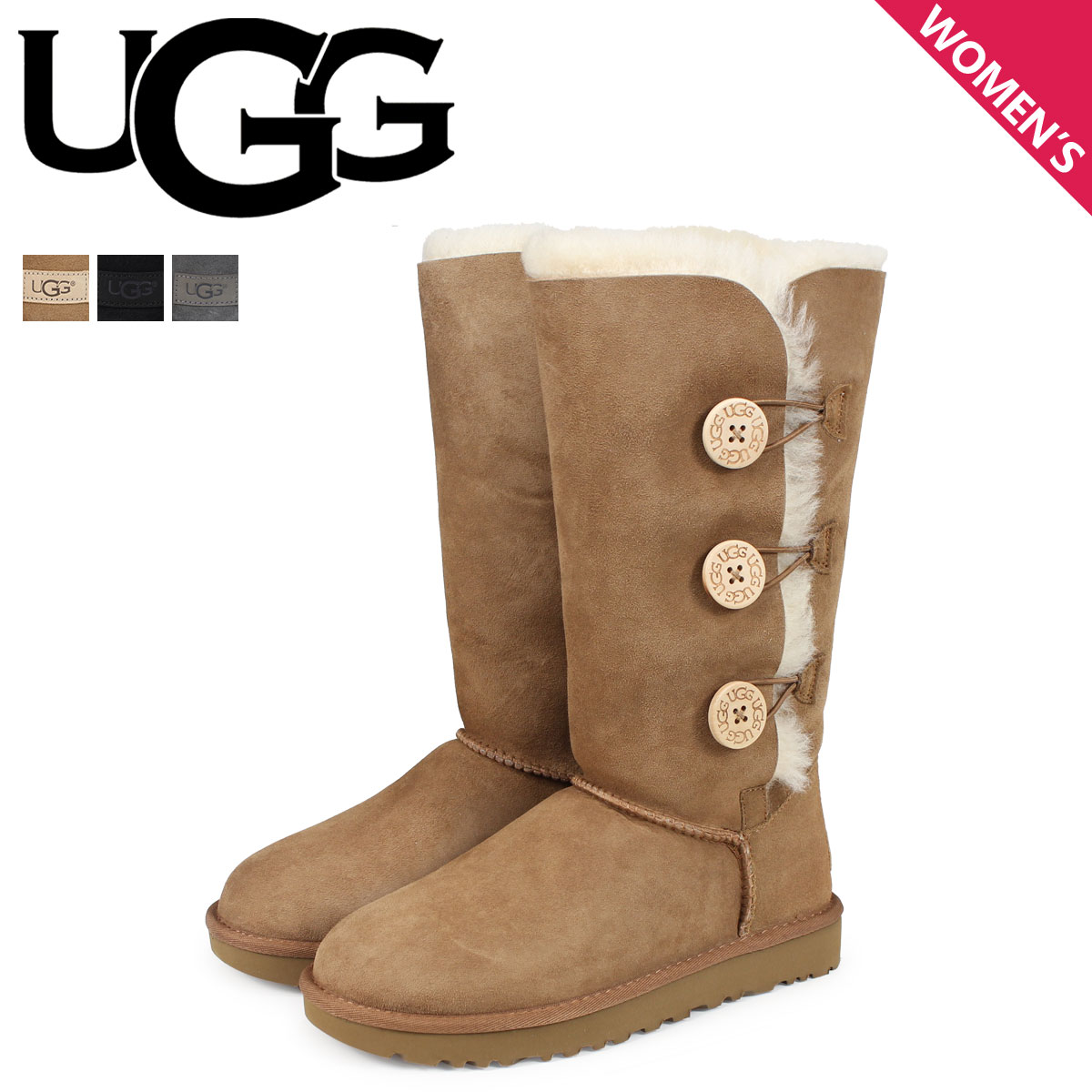 UGG アグ ムートンブーツ ベイリーボタン 2 レディース WOMENS BAILEY BUTTON TRIPLET II 1016227