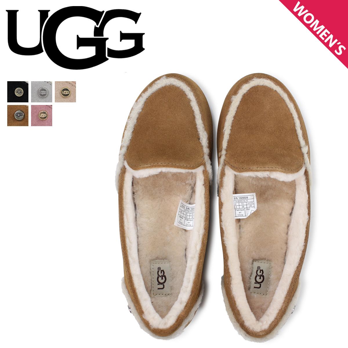 UGG アグ スリッポン ヘイリー レディース ムートン シープスキン WOMENS HAILEY ブラック グレー ブラウン ピンク 1020029