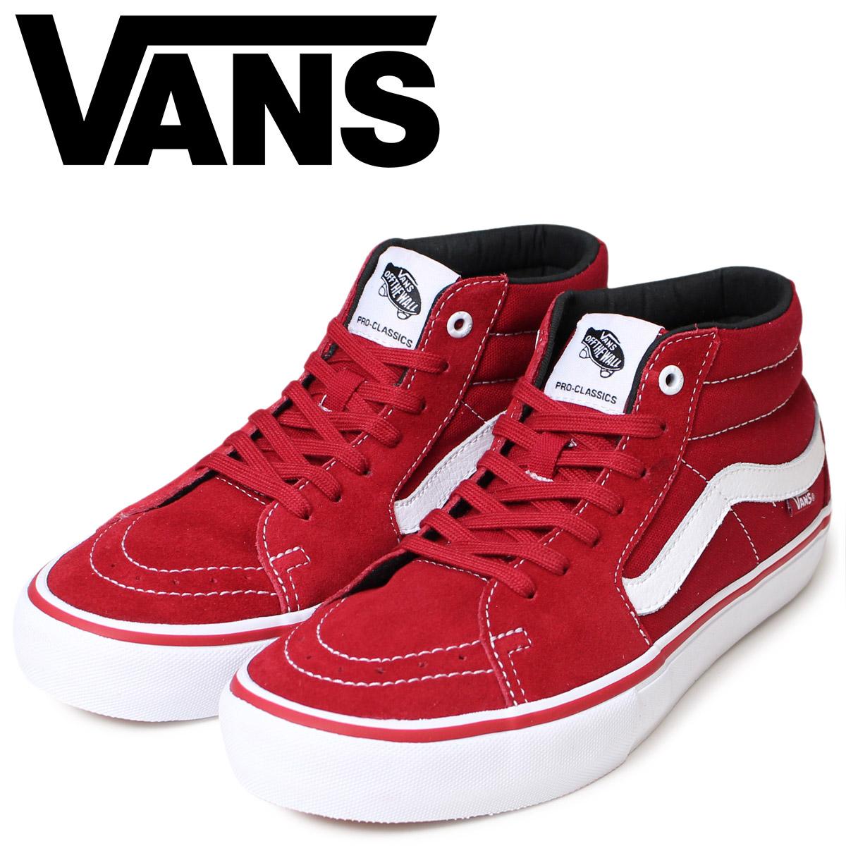 2f8174e77b VANS skating vans men sneakers station wagons SK8 MID PRO VN0A347UFRV shoes  red  2 9 Shinnyu load
