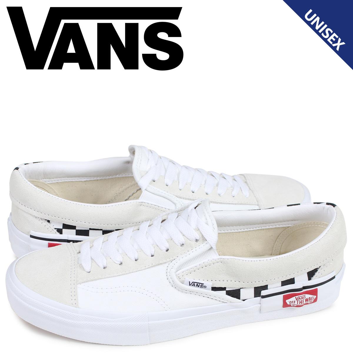 VANS ヴァンズ スリッポン スニーカー メンズ バンズ SLIP-ON CAP ホワイト 白 VN0A3WM527I