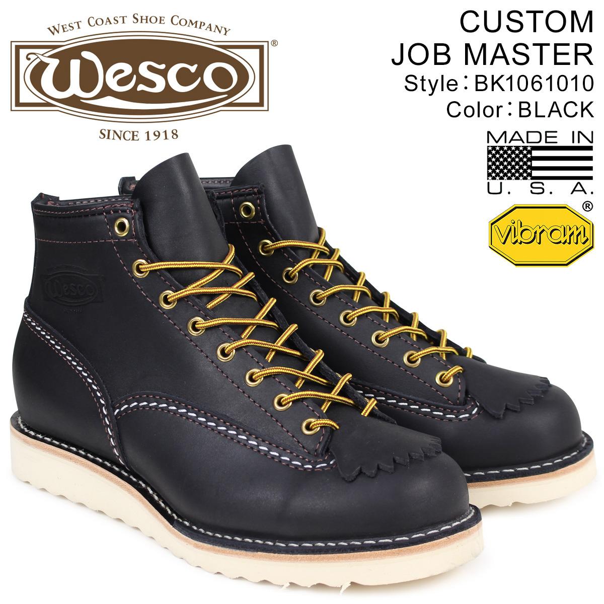 ウエスコ WESCO WESCO ジョブマスター ブーツ 6インチ 6インチ カスタム 6INCH CUSTOM CUSTOM JOB MASTER Eワイズ レザー メンズ ブラック BK1061010 ウェスコ, 名神タイヤ:d0259002 --- ww.thecollagist.com