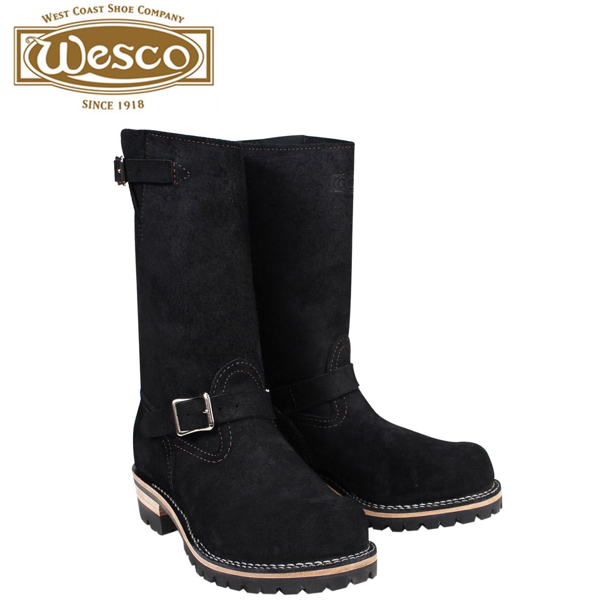 【最大2000円OFFクーポン】 ウエスコ ボス WESCO ブーツ 11インチ エンジニア 11INCH BOSS Eワイズ スエード メンズ ブラック BK7700100 ウェスコ