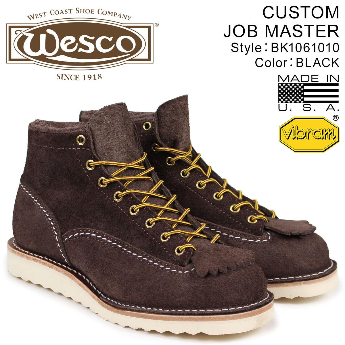 【最大2000円OFFクーポン】 ウエスコ ジョブマスター WESCO ブーツ 6インチ カスタム 6INCH CUSTOM JOB MASTER 2Eワイズ スエード メンズ ブラウン BR1061010 ウェスコ