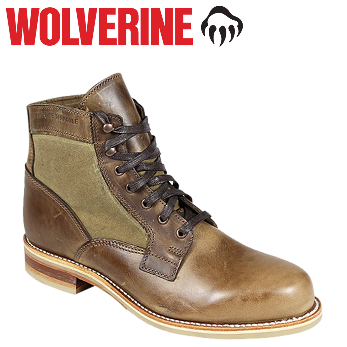Wolverine WOLVERINE white pine 1000 mile boot WHITEPINE 1000 MILE BOOT D wise leather men's lace-up boots W00402 natural Wolverine [12 / 15 new stock] [regular]