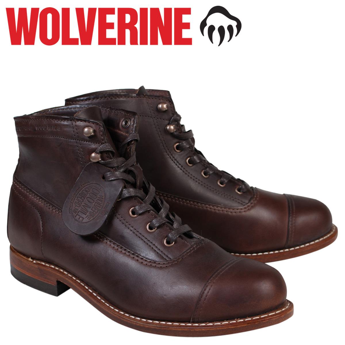【最大2000円OFFクーポン】 ウルヴァリン WOLVERINE 1000マイル ブーツ 1000MILE ROCKFORD CAP-TOE BOOT Dワイズ W05293 ブラウン ワークブーツ メンズ