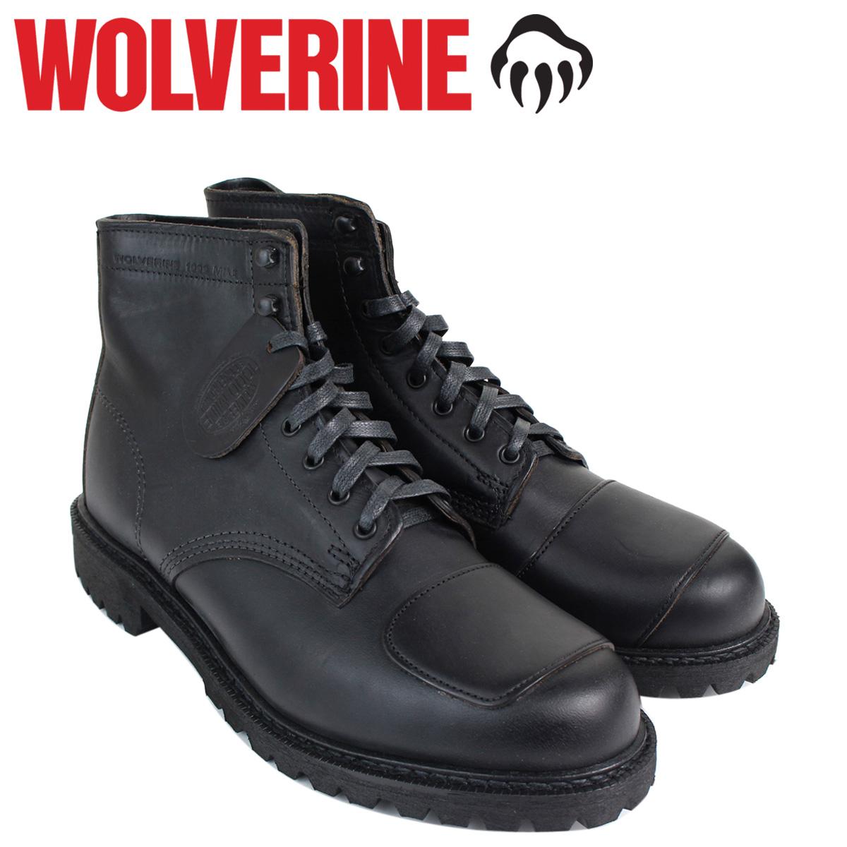 ウルヴァリン WOLVERINE 1000マイル ブーツ メンズ 1000 MILE DYLAN MONO BOOT Dワイズ W40300 ブラック ワークブーツ