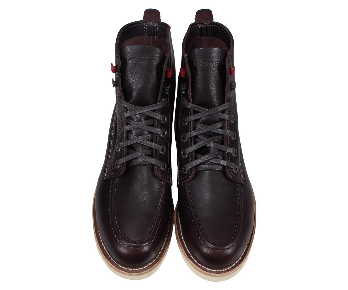 44ac6f9f343d Wolverene WOLVERINE boots Louis wedge men LOUIS WEDGE BOOT M Wise dark  brown W40409  2 22 Shinnyu load