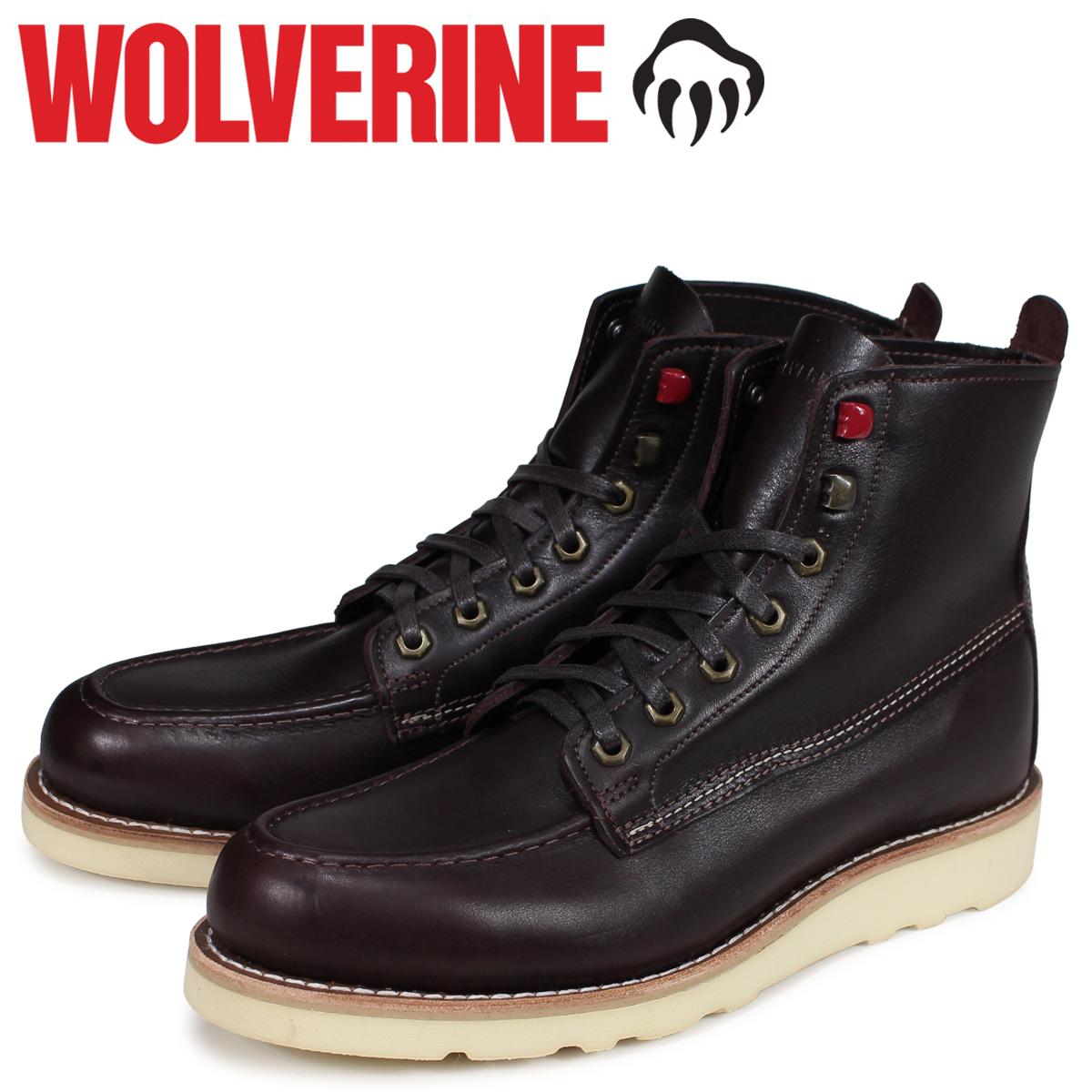 ウルヴァリン WOLVERINE ブーツ ルイ ウエッジ メンズ LOUIS WEDGE BOOT Mワイズ ダークブラウン W40409