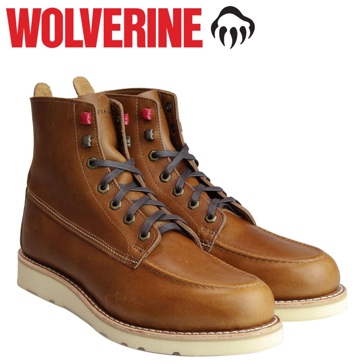 ウルヴァリン ブーツ WOLVERINE メンズ LOUIS WEDGE BOOT Dワイズ W40410 ダークトープ ワークブーツ