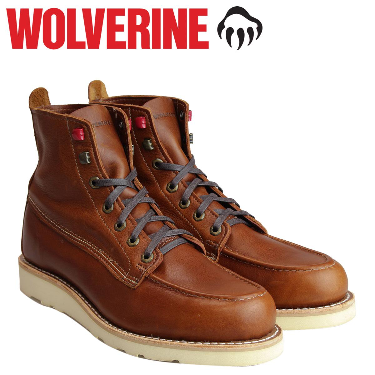 【最大2000円OFFクーポン】 ウルヴァリン WOLVERINE ブーツ メンズ LOUIS WEDGE BOOT Dワイズ W40411 ブラウン ワークブーツ [2/22 追加入荷]