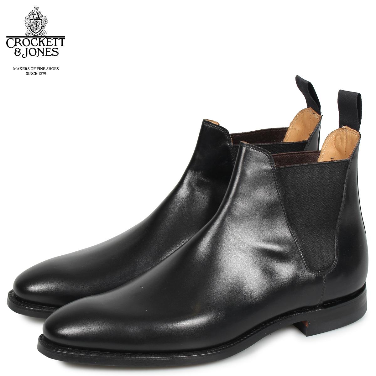 クロケット&ジョーンズ CROCKETT&JONES チェルシー 8 ブーツ サイドゴア メンズ CHELSEA 8 Eワイズ ブラック 黒