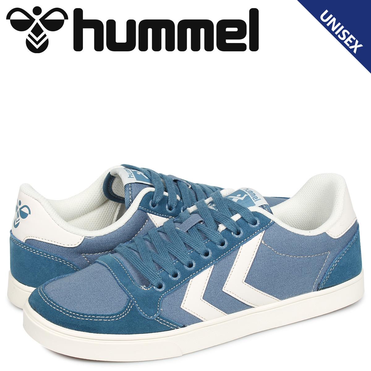 ヒュンメル hummel スリマー スタディール キャンバス ロー スニーカー メンズ レディース SLIMMER STADIL CANVAS LOW ブルー HM205900-7487 [10/25 新入荷]