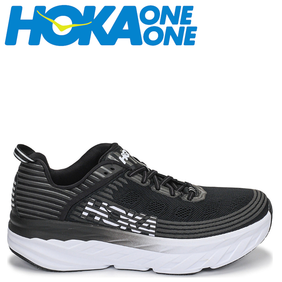 HOKA ONE ONE ホカオネオネ ボンダイ6 スニーカー メンズ BONDI 6 ブラック 黒 1019269