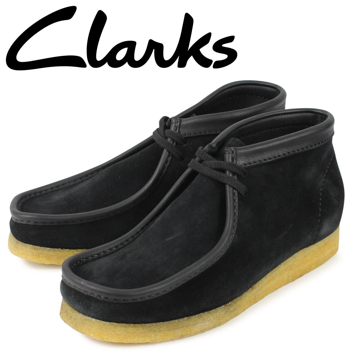クラークス Clarks ワラビー ブーツ メンズ WALLABEE ブラック 黒 26134611