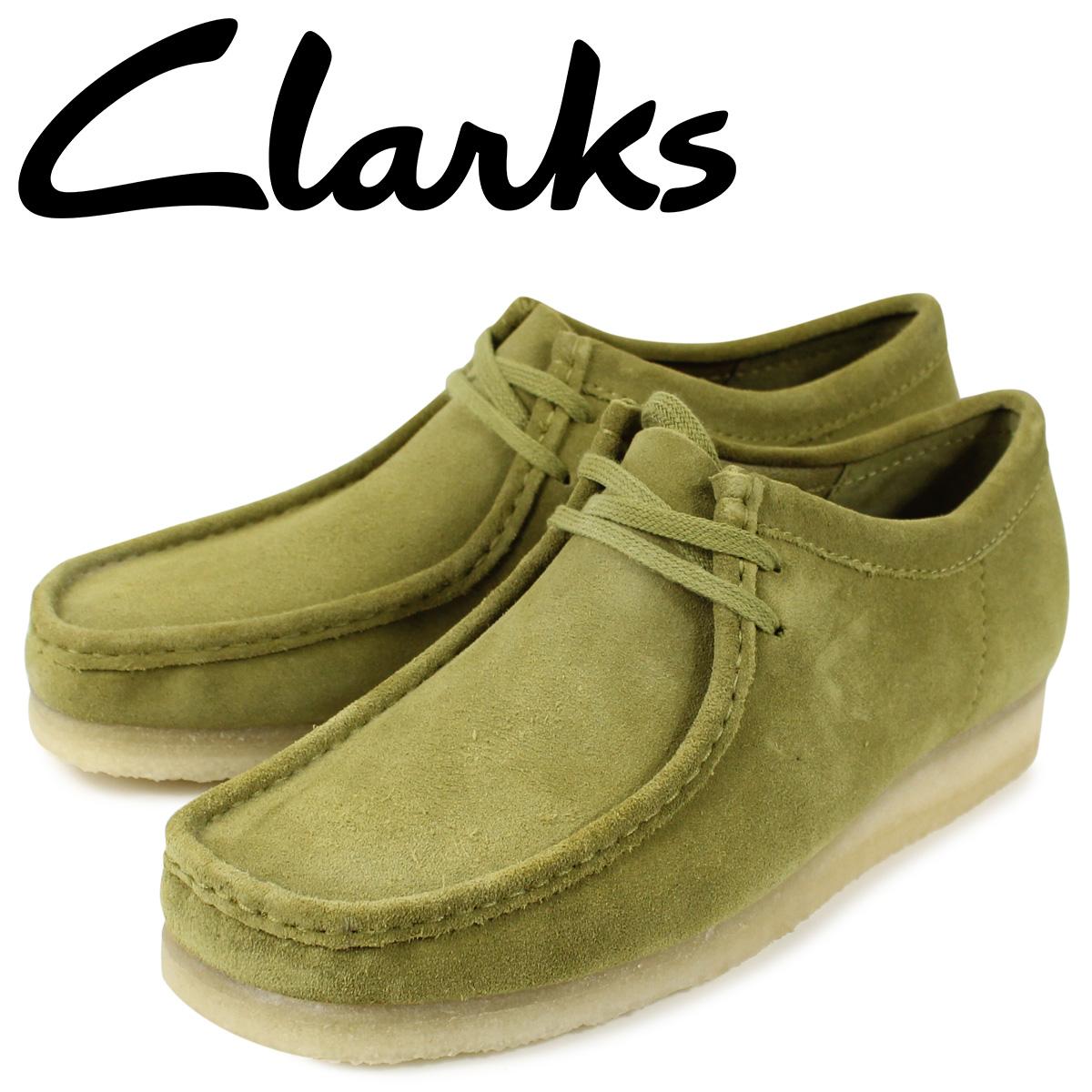 クラークス Clarks ワラビー ブーツ メンズ WALLABEE カーキ 26146513