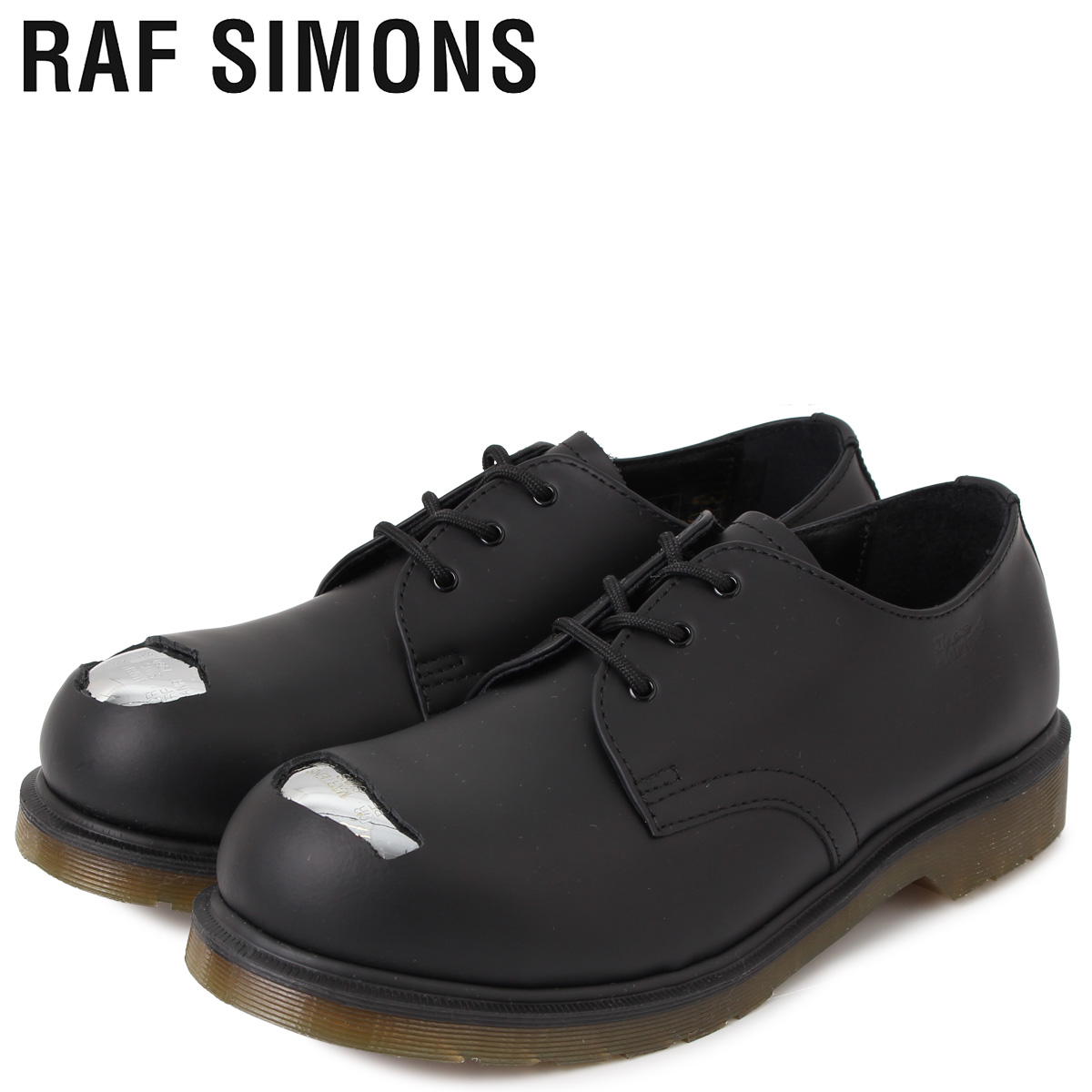 ドクターマーチン Dr.Martens ラフシモンズ RAF SIMONS 3ホール シューズ メンズ コラボ CUT OUT STEEL TOES SHOE ブラック 黒 192-936D