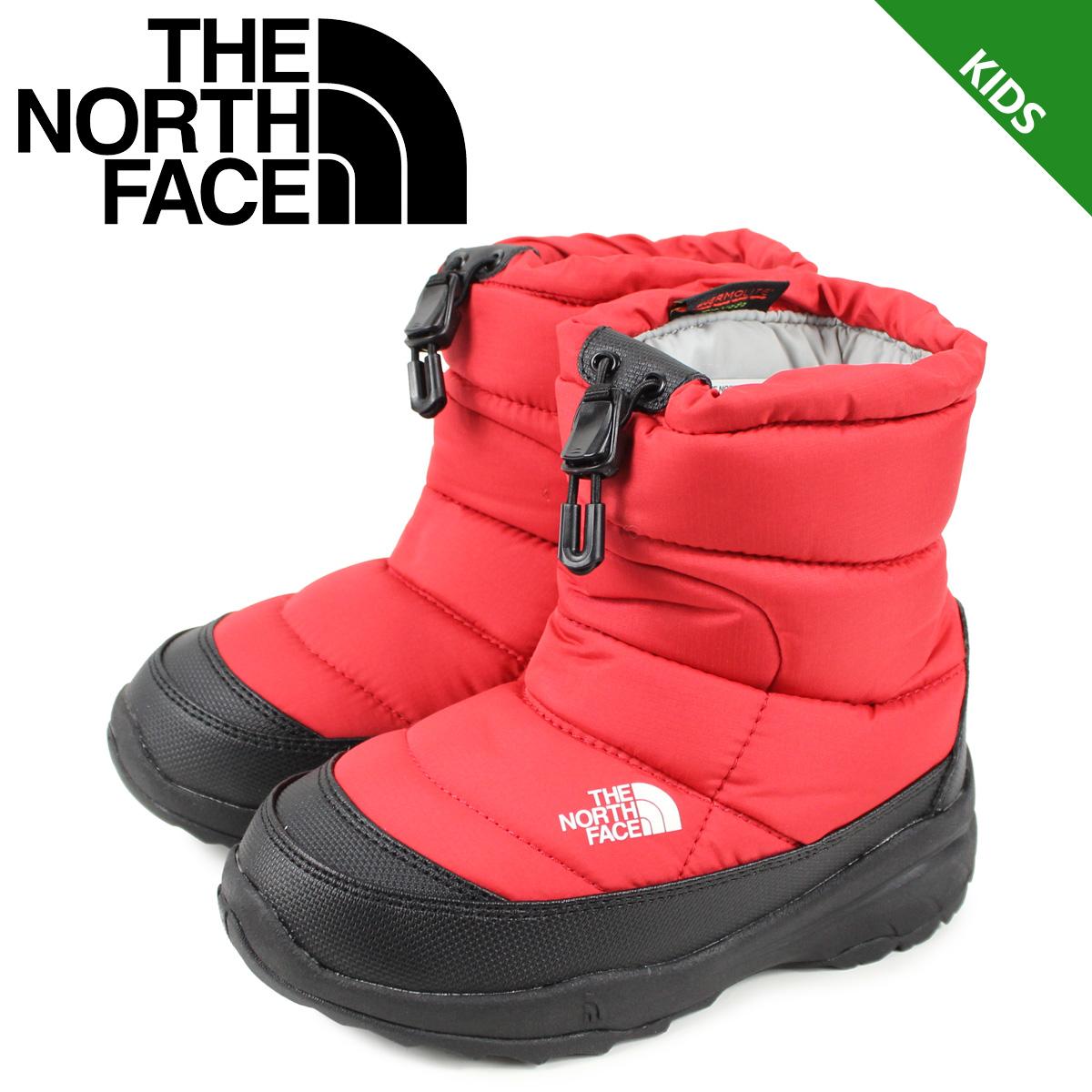 ノースフェイス THE NORTH FACE ヌプシ ブーティー ウォータープルーフ ブーツ キッズ K NUPTSE BOOTIE WP レッド NFJ51980