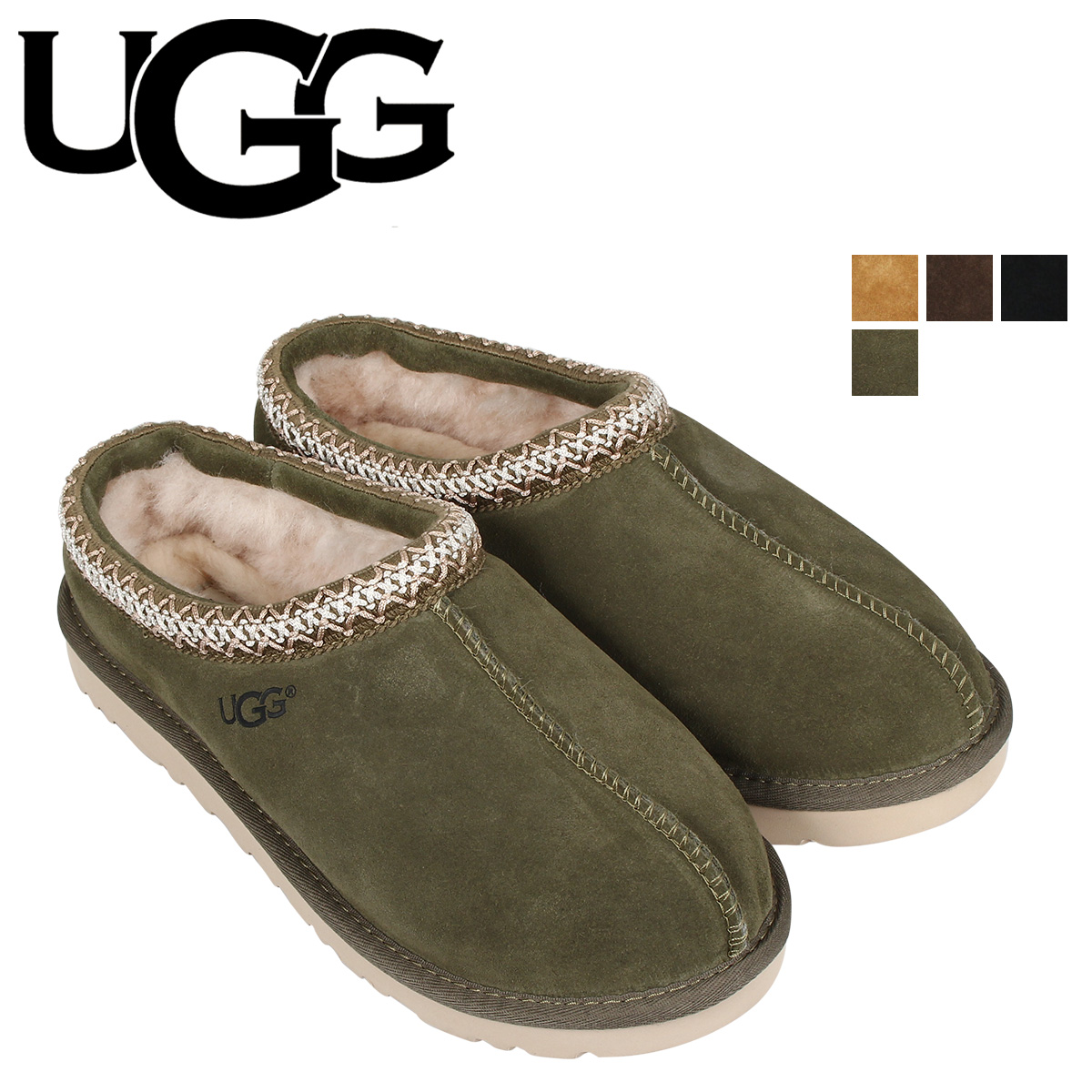 UGG アグ スリッポン ムートン タスマン メンズ シープスキン MENS TASMAN ブラック ブラウン グリーン 黒 5950